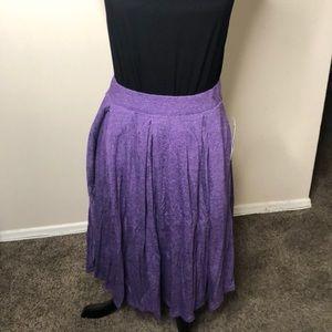 Purple LulaRoe Madison skirt with pockets